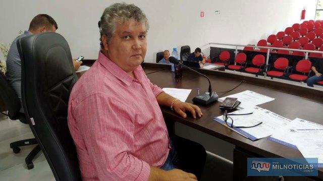 Sebastião Reis Oliveira, presidente da Câmara de Vereadores de Castilho. Foto: MANOEL MESSIAS/Mil Noticias