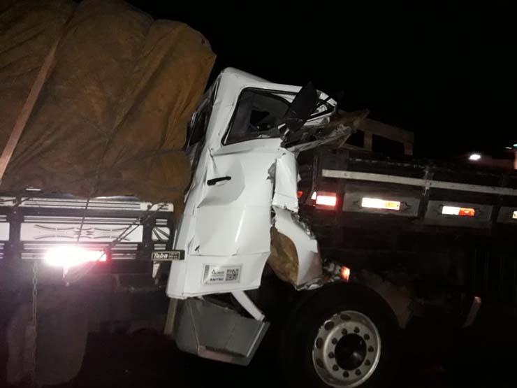Motoristas morrem em acidente entre dois caminhões na rodovia Miguel Jubran — Foto: Arquivo pessoal.