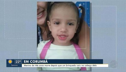 Estela morreu após acidente no parquinho que brincava — Foto: Reprodução/TV Morena.