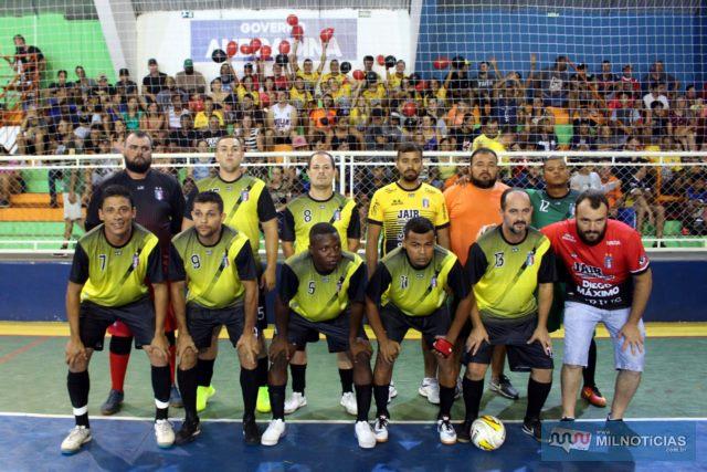Santo Antônio (amarelo e preto), chega a sua terceira final consecutiva do Futsal de Férias. Fotos: MANOEL MESSIAS/Mil Noticias