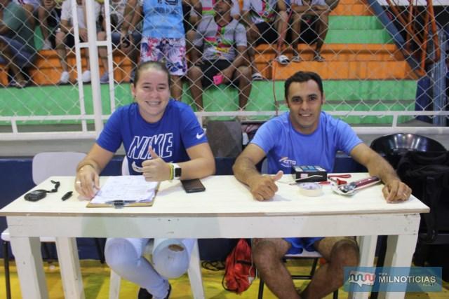 Mesários Mérice Almeida e Biga Lopes, da Secretaria Municipal de Esportes. Foto: MANOEL MESSIAS/Mil Noticias