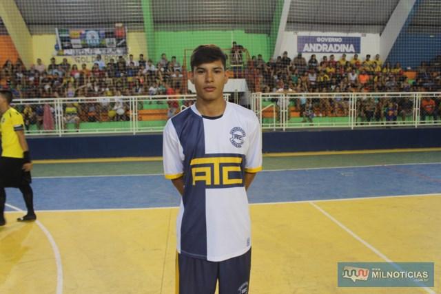Jogador do ATC, Rauan Fernandes, craque do futuro no futsal e no futebol de campo. Foto: MANOEL MESSIAS/Mil Noticias