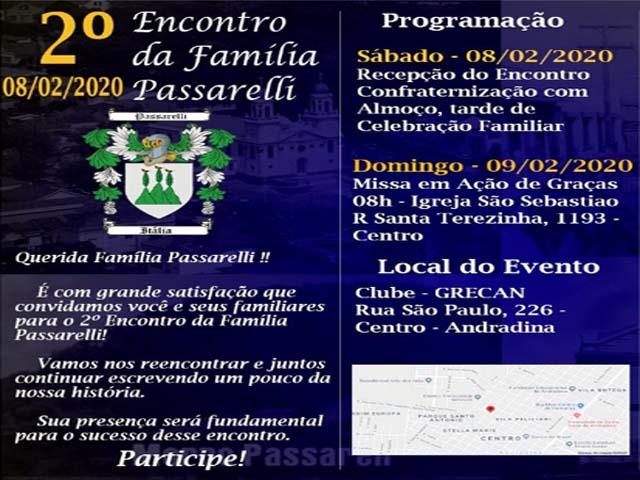 Folder convocando os membros da grandiosa famílIa para o 2º Encontro em Andradina. Foto: DIVULGAÇÃO