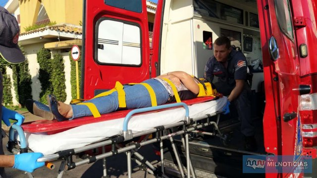 Mulher de 40 anos, que conduzia a motoneta, sofreu uma contusão na costela, lado esquerdo. Foto: MIL NOTICIAS/Agência