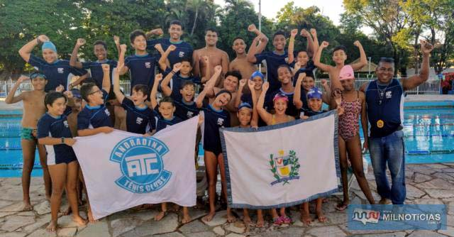 A equipe andradinense, sob o comando dos professores Elenei Payá e Jonílcio Avelino da Silva, irá participar com 40 atletas. Foto: DIVULGAÇÃO