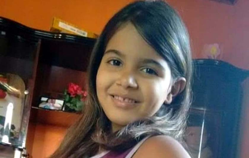 Gabriela, de apenas 10 anos foi morta pela própria mãe. Foto: Facebook/Reprodução