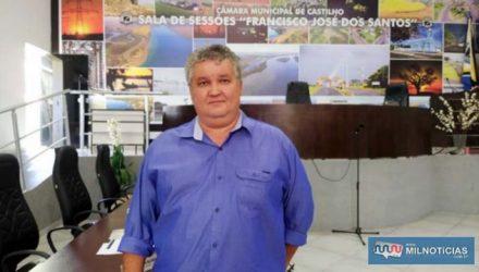 Sebastião Reis Oliveira, presidente da Câmara de Vereadores de Castilho. Foto: MANOEL MESSIAS/Agência