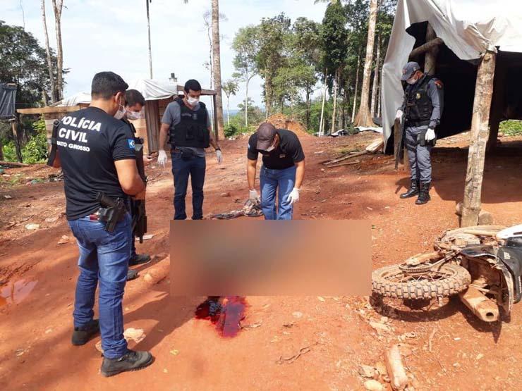 Jovem é morto a tiros em garimpo ilegal em MT após chegar há poucos meses no local — Foto: Polícia Civil de Mato Grosso.