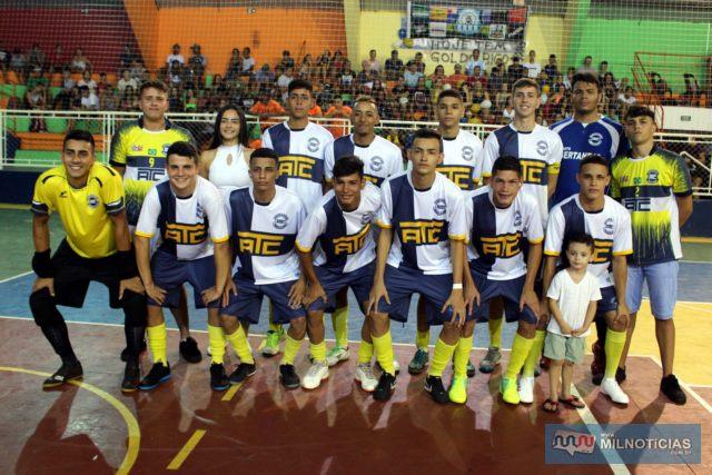Garotada do ATC/Juventude foi a equipe revelação do Futsal de Férias 2020. Foto: MANOEL MESSIAS/Mil Noticias