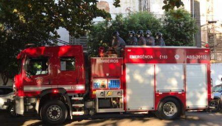 Corpo de Bombeiros também esteve presente durante velório em Araçatuba — Foto: Rafael Ferraz/TV TEM