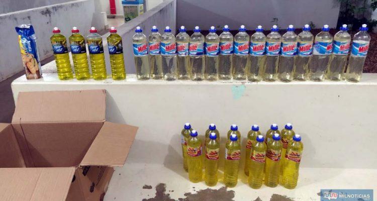 Foram recuperados mais de 20 unidades de detergente e devolvidos  para a diretoria da escola. Fotos: MANOEL MESSIAS/Agência