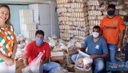Distribuição em creches foi dividida em três dias. Foto: Secom/Prefeitura