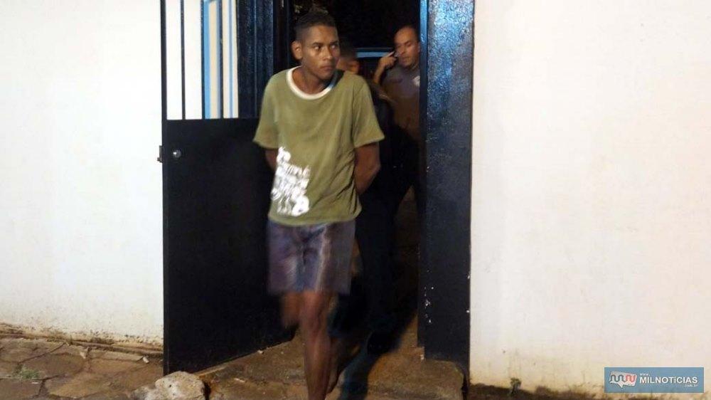 Servente foi preso em flagrante 30 minutos  após o crime, quando estava na Praça central Antônio Joaquim de Moura Andrade. Foto: MANOEL MESSIAS/Agência