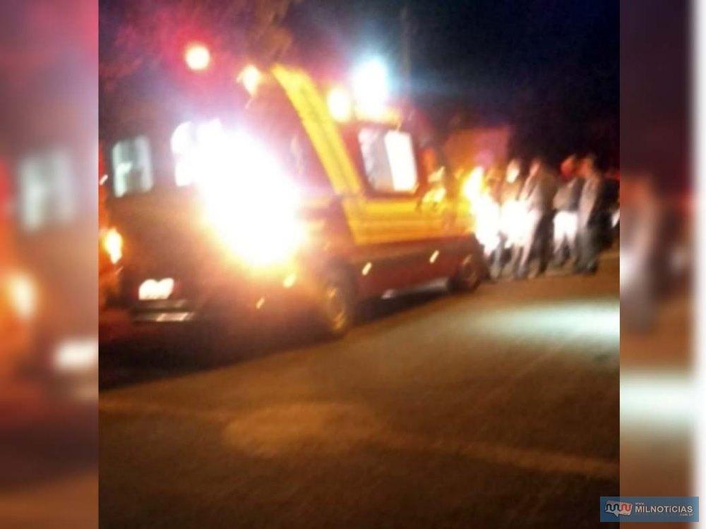 Corpo de Bombeiros socorreu vítima até a UPA e, devido a gravidade dos ferimentos, foi transferido para a Sana Casa. Foto: MANOEL MESSIAS/Agência