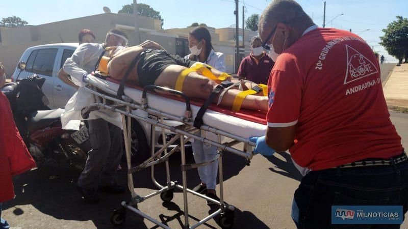 Filha dela sofreu escoriações graves nas pernas e braços. Foto: MIL NOTICIAS/Agência