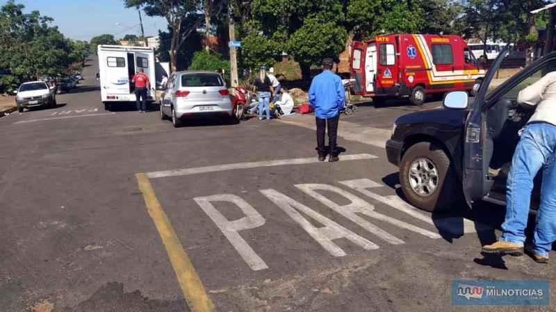Acidente aconteceu depois que aposentado avançou sinalização de trânsito. Foto: MIL NOTICIAS/Agência