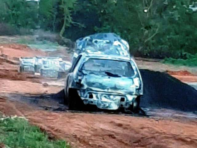 Dois homens foram presos em flagrante por roubo e incêndio de veículo. Foto: RP10