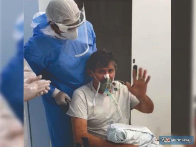 José Alsemir Denuncio de 58 anos, de Murutinga do Sul, recebeu alta. Foto: Assessoria de Comunicação OSS