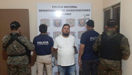 Homem foi preso pela polícia de Pedro Juan após se envolver em acidente - Foto: Gilberto Ruiz Díaz