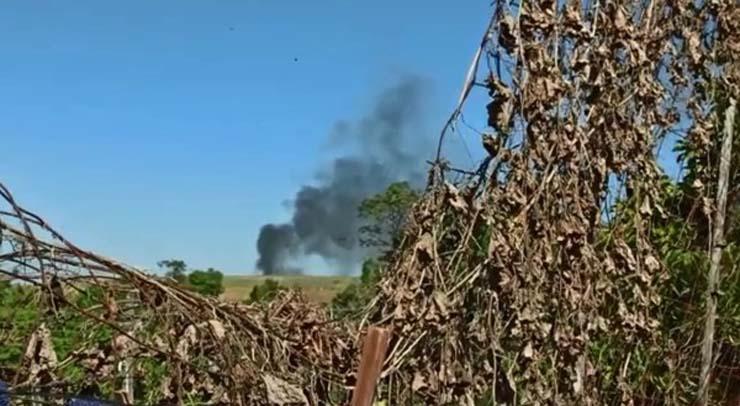 Aeronave caiu em Tietê (SP) na manhã desta terça-feira (19) — Foto: Arquivo Pessoal.