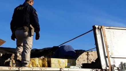 Polícia Rodoviária Federal (PRF) apreendeu nesta segunda-feira (22) 4.092 Kg de maconha e nove quilos de skunk em Água Clara (MS). Foto: PRF.