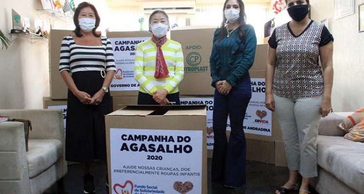 Tamiko e a presidente do Fundo Social, Mirtes Kobayashi, durante lançamento da campanha. Foto: Secom/Prefeitura