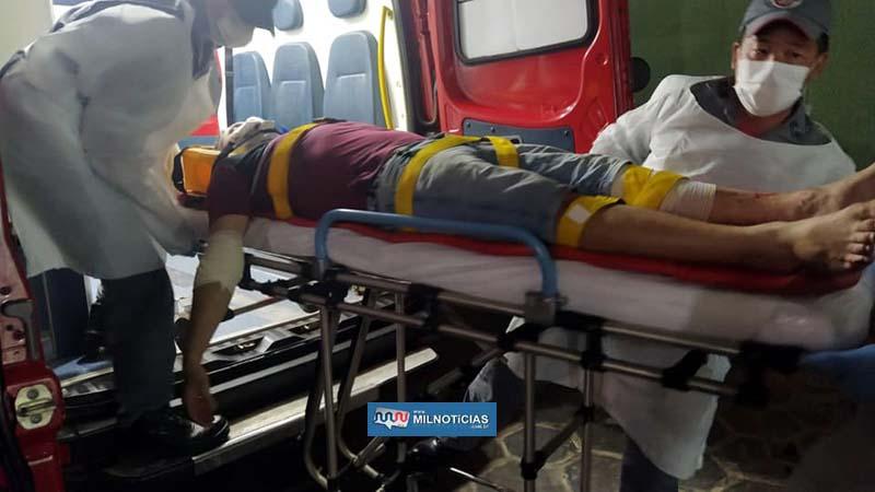 Vítima sofreu corte na perna esquerda e cotovelo direito, além de escoriações e contusões pelo corpo. Foto: MANOEL MESSIAS/Agência
