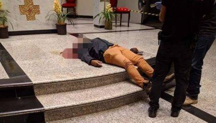 Rosemir Fernandes de Souza o homem que matou a ex-mulher a tiros, baleou duas crianças e se matou no altar da Igreja São José, em Dourados. Foto: Douradonews.com.br