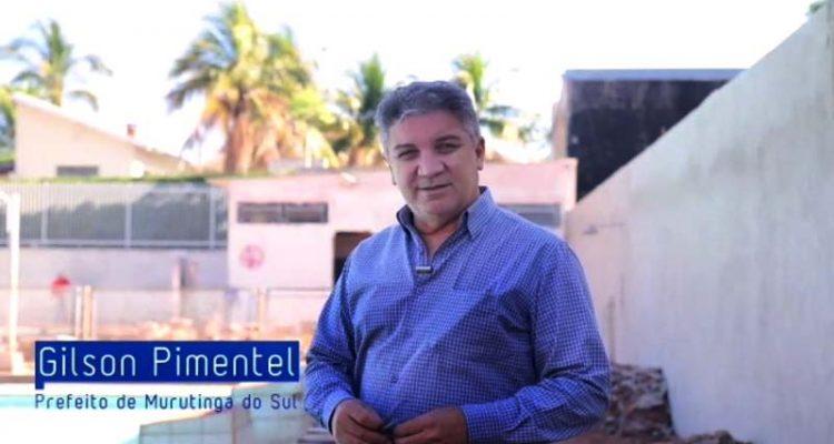 Gilson Pimentel, prefeito de Mututinga do Sul, anuncia novo conjunto habitacional. Foto: Assessoria de comunicação