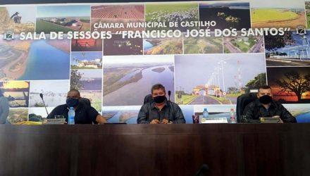 Mesa Diretora da Câmara de Vereadores de Castilho. Foto: MANOEL MESSIAS/Agência