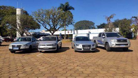 Receita Federal faz a doação de Hilux, Audi e Saveiros ao município de Andradina