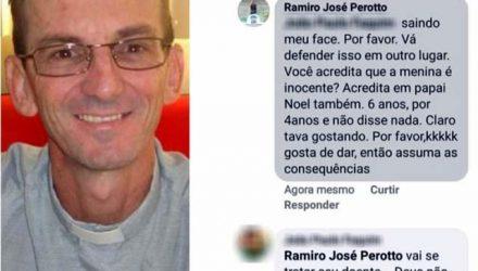 Padre ofendeu criança vítima de estupro - Reprodução / Facebook