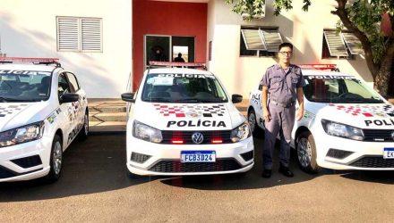 O 28º Batalhão da Polícia Militar/Interior (BPM/I) recebeu na sexta-feira (11), 03 novas viaturas modelo VW Gol. Fotos: DIVULGAÇÃO/PM
