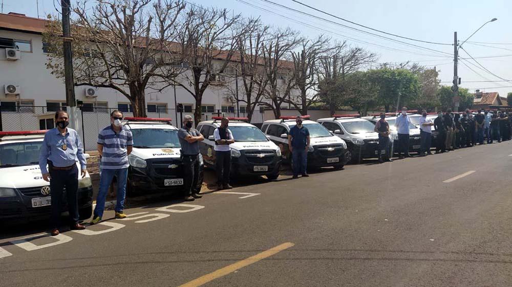Foram utilizados policiais civis das cidades de Andradina, Castilho, Murutinga do sul, Mirandópolis, Pereira Barreto, Suzanápolis, entre outras. Foto: MANOEL MESSIAS/Agência
