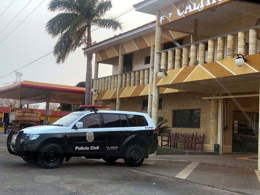 Polícia Civil realizou operação também no apartamento do averiguado em um hotel da cidade. Foto: DIVULGAÇÃO
