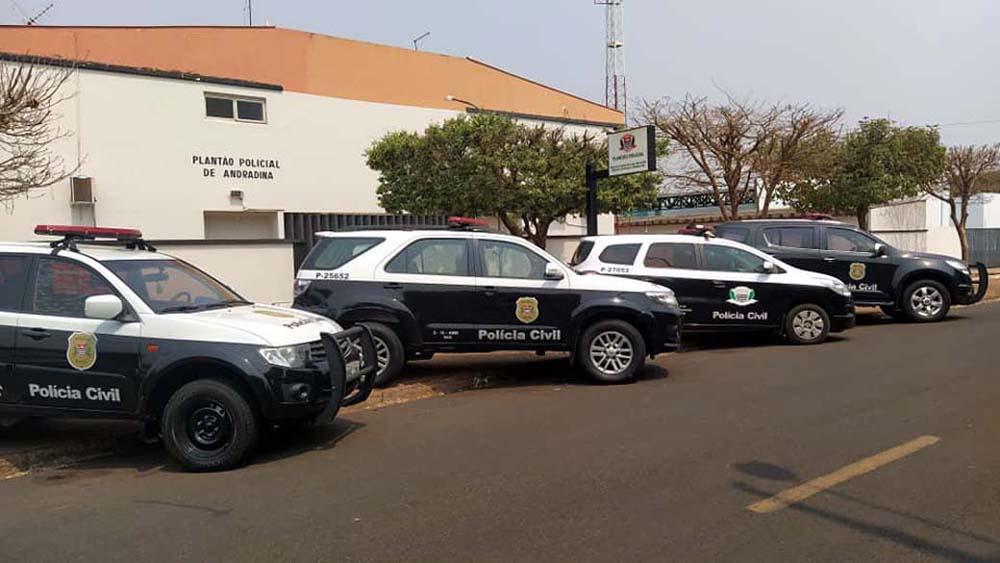 Finalização da operação aconteceu na Delegacia Seccional de Andradina. Foto: MANOEL MESSIAS/Agência