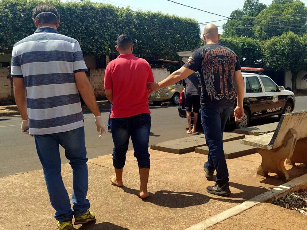 Ajudante de pintor G. H. S. P., 18, da rua Mato Grosso, bairro Peliciari, também foi indiciado pelo mesmo tipo de crime. Foto: MANOEL MESSIAS/Agência