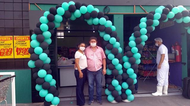 JoVi supermercado foi inaugurado na ultima sexta-feira (09), em amplas e modernas instalações. Fotos: MANOEL MESSIAS/Mil Noticias