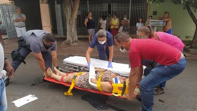 Vítima sofreu escoriações pelo corpo (pernas, joelhos e braços), além de uma contusão mais grave no pulso do braço direito. Foto: MANOEL MESSIAS/Agência