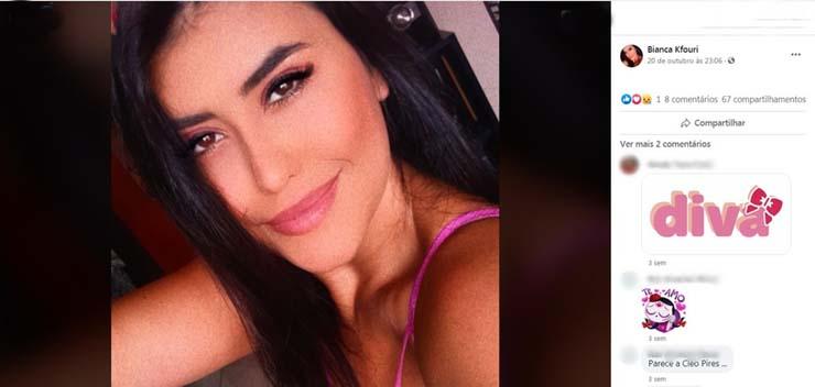 Bianca Kfouri morreu após se envolver em acidante em Rio Preto — Foto: Reprodução/Facebook.