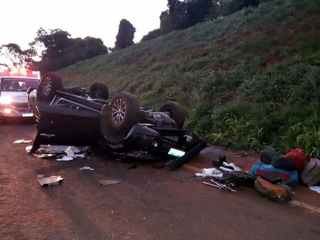 Idoso morreu depois de carro capotar em rodovia de Nova Granada — Foto: Arquivo Pessoal