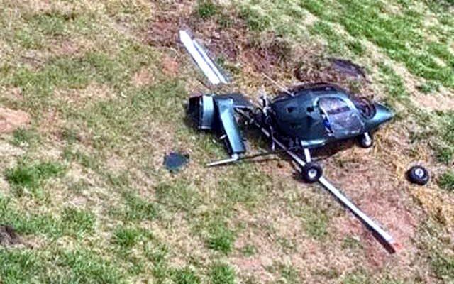 Piloto teve ferimentos graves após queda de girocóptero — Foto: Divulgação/Samu