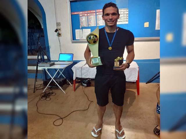 Lucas Santos, o 'Papaia' (Feijão Noroeste), artilheiro com 11 gols e revelação dos novos. Foto: Juliana Galdino