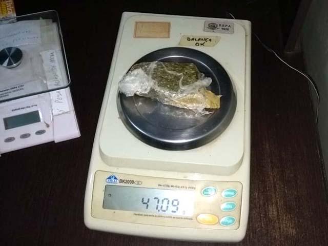 O outro pequeno tablete pesou apenas 47 gramas. Foto: DIVULGAÇÃO