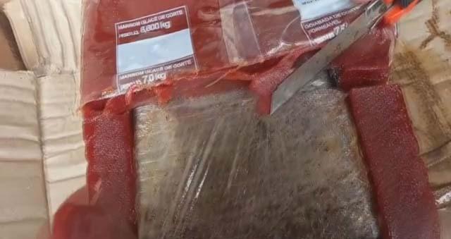 Droga foi encontrada dentro de carga de goiabada no Porto de Santos, SP — Foto: Divulgação/Receita Federal