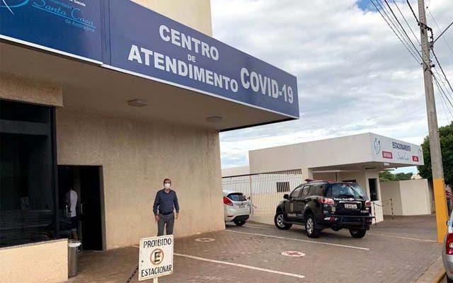 """Polícia Civil realizou operação""""Fura Fila, na Central Covid de Andradina. Foto: DIVULGAÇÃO"""