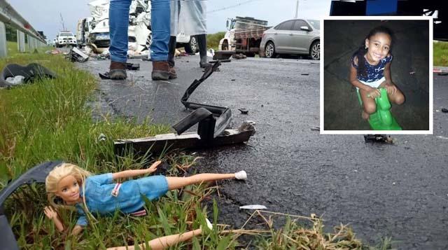 Morre menina de 8 anos que sofreu acidente de carro em Marília, Ana Vitória Brazão — Foto: Carlos Rodrigues/Marília Notícia