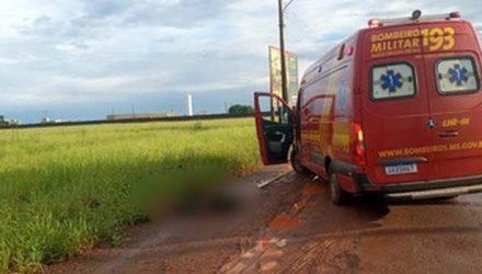 Dois homens são mortos com golpes de faca, em Dourados (MS). — Foto: Cido Costa/Dourados Agora.