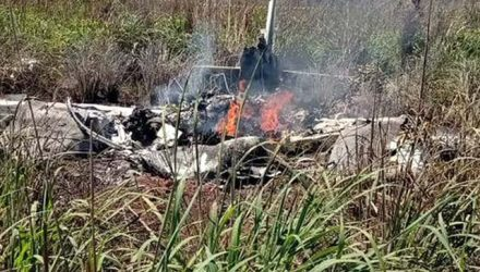 A queda de um avião de pequeno porte causou a morte de quatro jogadores e do presidente do Palmas-TO, além do piloto. Foto: Divulgação