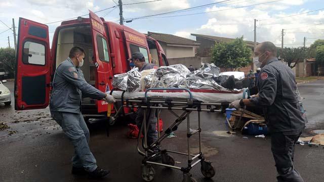 Entregador de água e gás sofreu corte profundo no couro cabeludo e traumatismo craniano. Foto: MANOEL MESSIAS/Agência